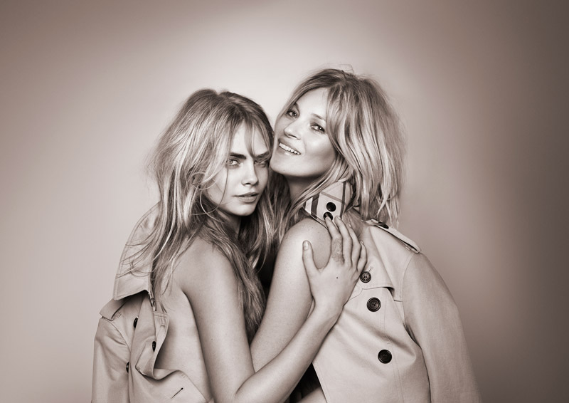Kate Moss + Cara Delevingne Team Up for New 'My Burberry' Fragrance Ad