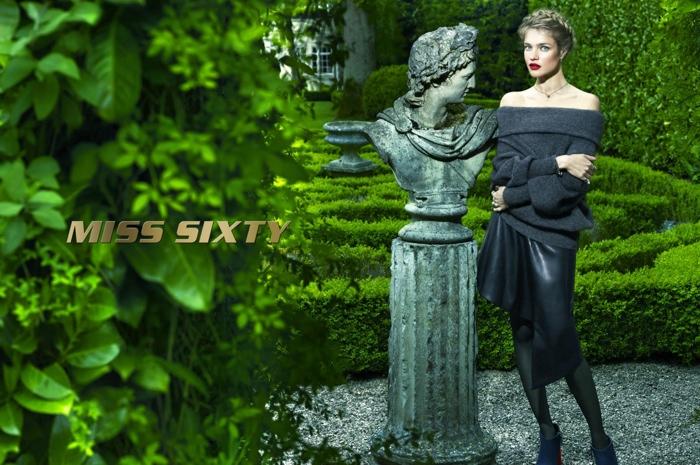 Natalia Vodianova Enchants in Miss Sixty Fall 2015 Campaign