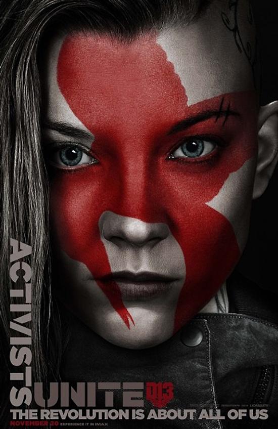 Natalie Dormer as Cressida on The Hunger Games: Mockingjay - Part 2 poster