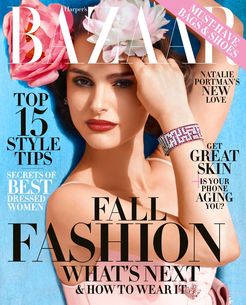 Natalie Portman covers the August 2015 cover of Harper's Bazaar