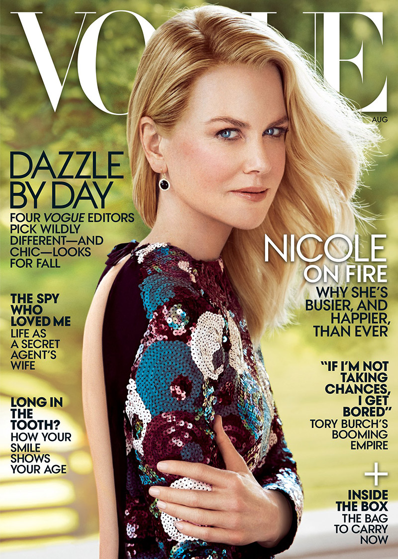 Nicole Kidman Glitters In Marc Jacobs On Vogue Cover