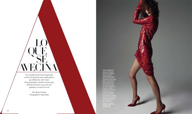 Ophelie Guillermand Poses for Nagi Sakai in Fall Looks for Bazaar Spain