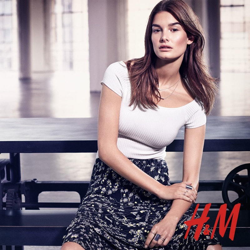 Ophelie Guillermand Models Summer Trends for H&M