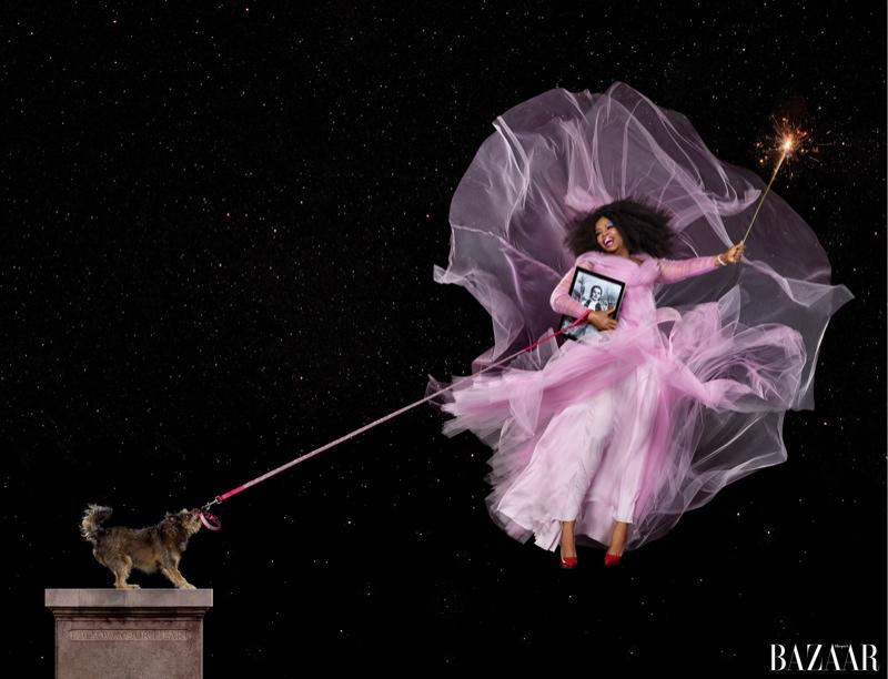 Oprah Winfrey as Glinda the Good Witch for Harper's Bazaar
