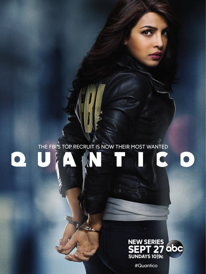 Quantico poster with Priyanka Chopra
