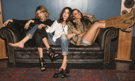 2015: Hailey Baldwin, Bella Hadid and Tinashe appear in the fall 2015 campaign from Ralph Lauren Denim & Supply