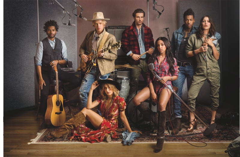 Tinashe, Hailey & Bella Star in Ralph Lauren Denim & Supply Fall '15 Campaign