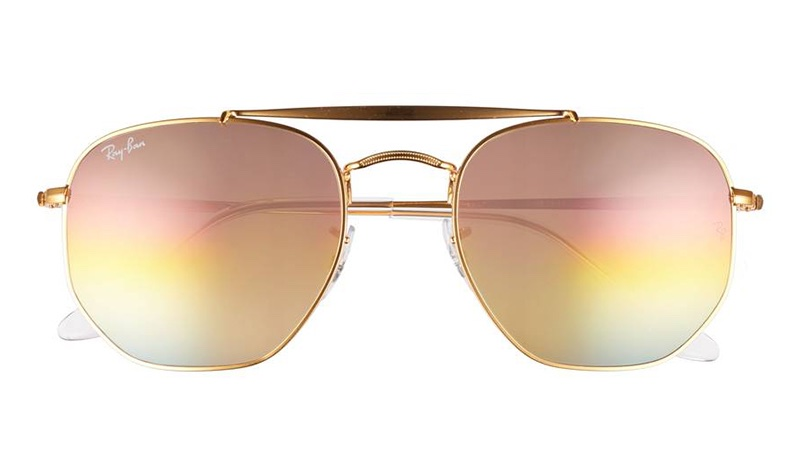 Ray-Ban 54mm Gradient Aviator Sunglasses $188