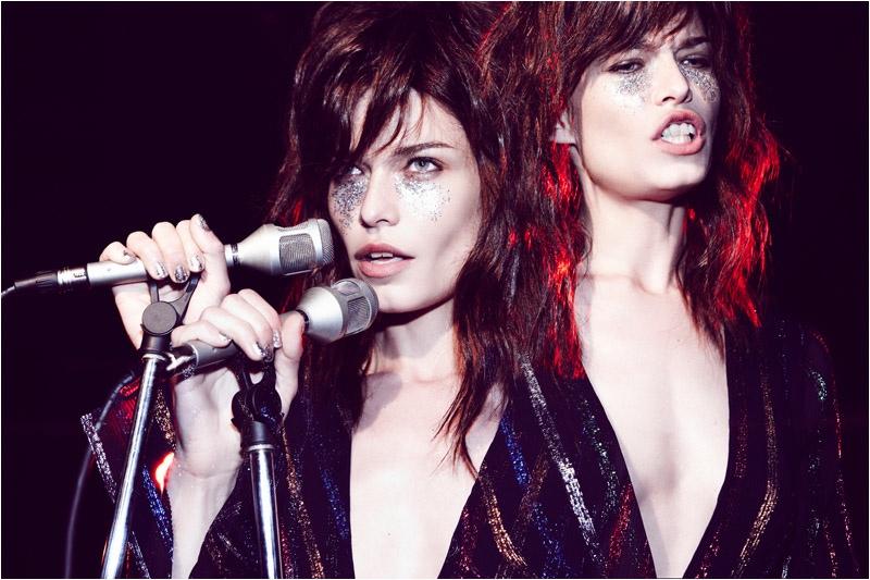 Louise Pedersen is Rock Chic for Nagi Sakai in Marie Claire Italia Editorial