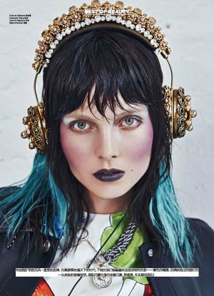 Kristy Kaurova is a Rocker Beauty in Modern Weekly China by Shxpir