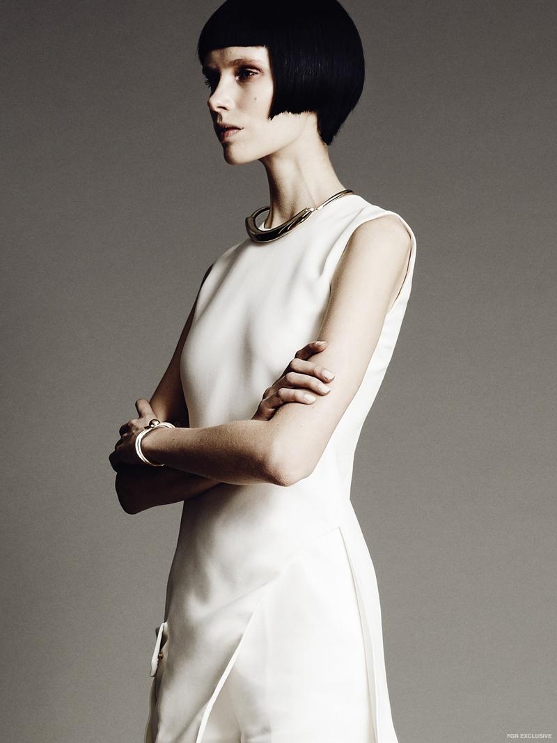 Top and Shorts Versace, Necklace Jason Wu for Pluma, Bracelet Psyche Jewelry