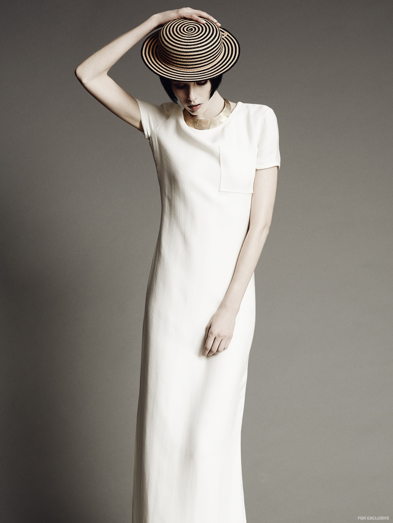Dress Lanvin, Necklace Laurel Hill Jewelry, Hat Moody & Farrell