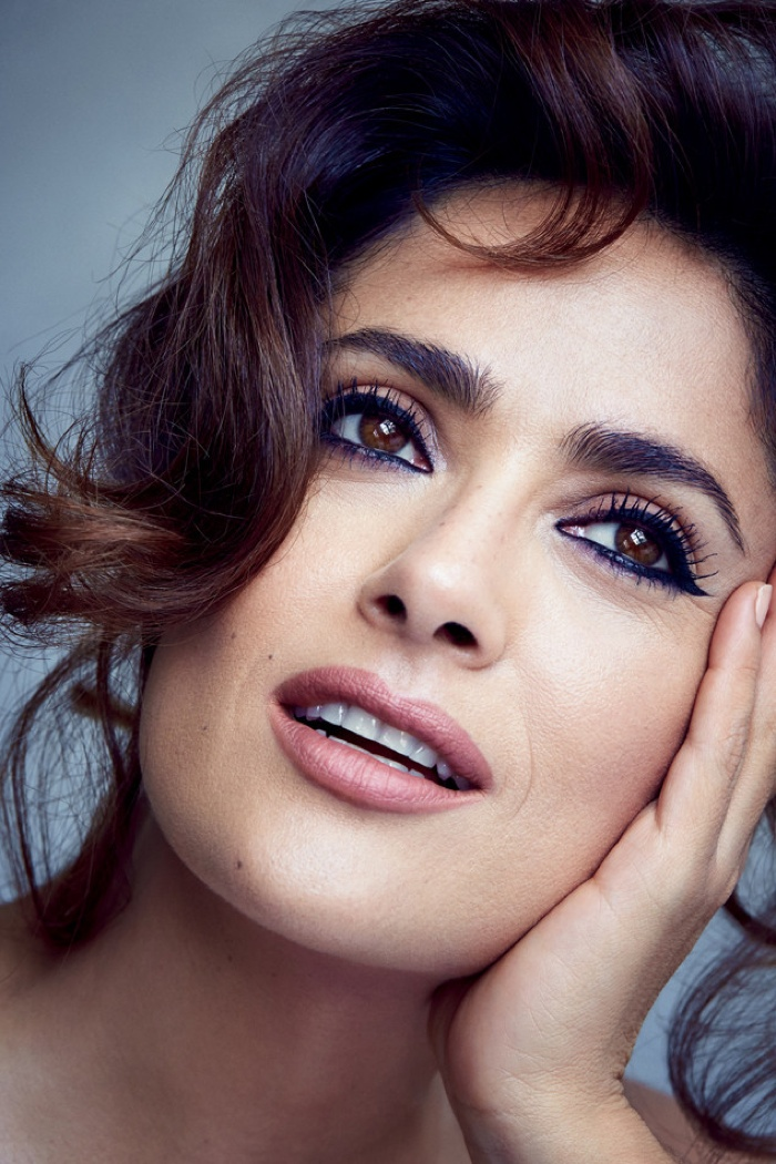 Salma Hayek Goes Topless for Allure Cover Story