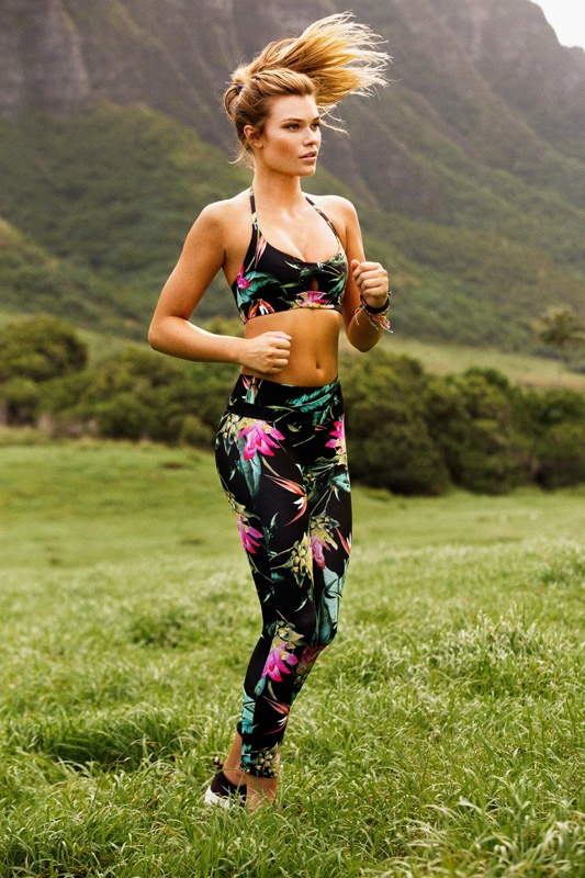 Samantha Hoopes Works Out in Style with Stone Fox Sweat