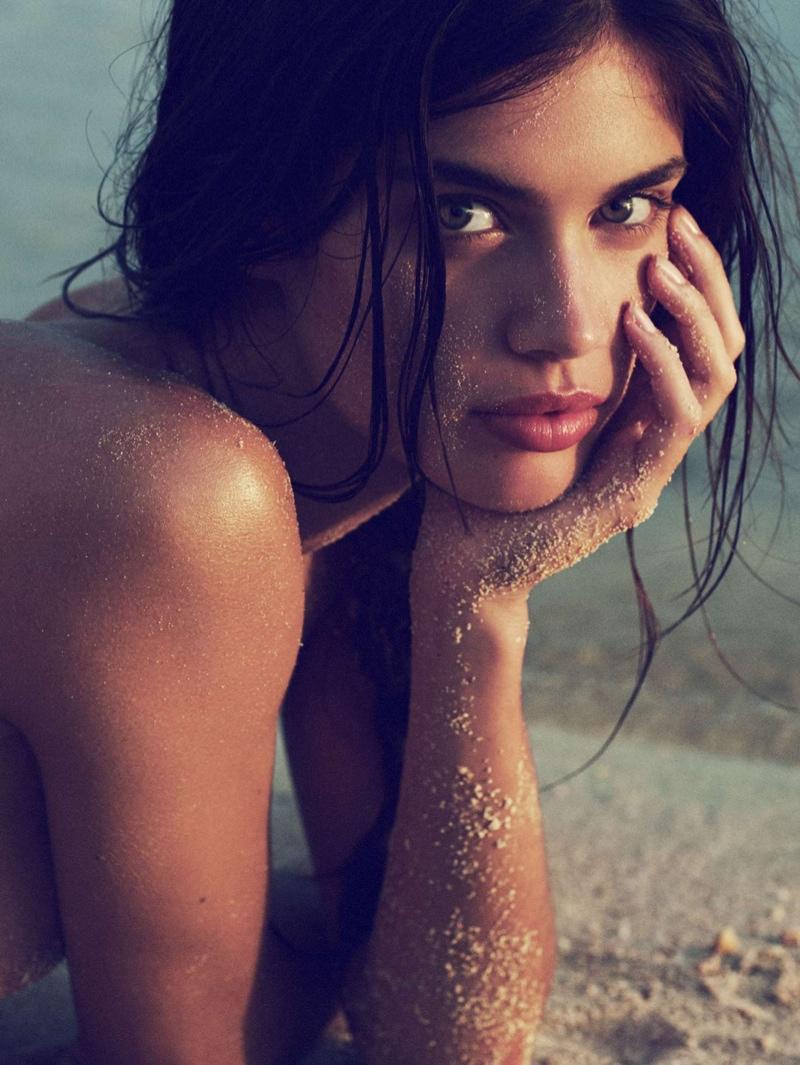 Sara Sampaio is a Beach Beauty in Editorial for Harper's Bazaar UK
