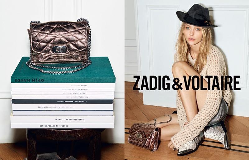 Sasha Pivovarova Returns for Zadig & Voltaire Fall 2015 Ads