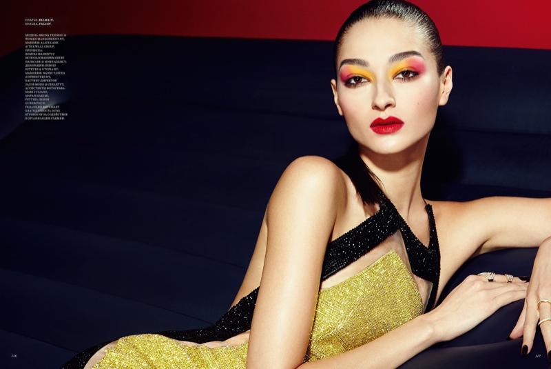 Bruna Tenorio Stuns with Smokey Eyes in Harper's Bazaar KZ by Yossi Michaeli