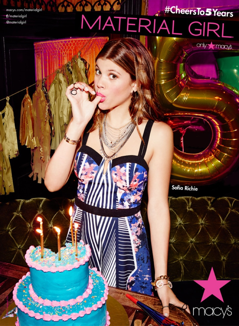 Sofia Richie Lands Material Girl Fall 2015 Campaign