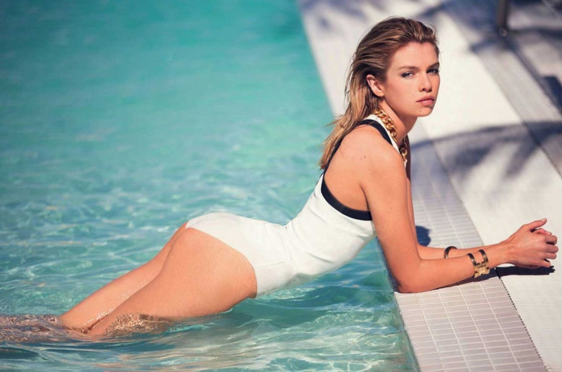 Stella Maxwell Brings the Heat in Swimwear Looks for Marie Claire Italy