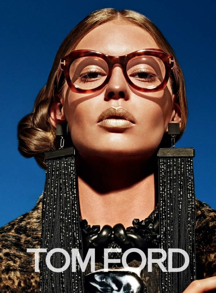 Ondria Hardin is Golden in Tom Ford Fall '15 Ads