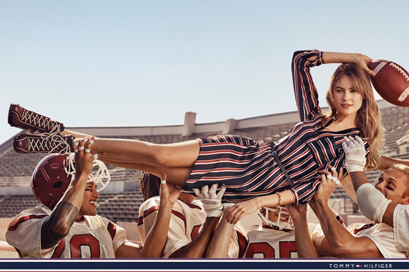 Behati Prinsloo is a Football Fan in Tommy Hilfiger's Fall 2015 Campaign
