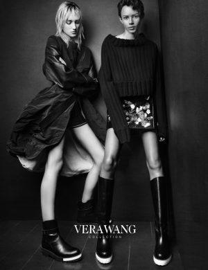 Josephine Le Tutour + Binx Walton  Front Vera Wang's Fall 2015 Ads