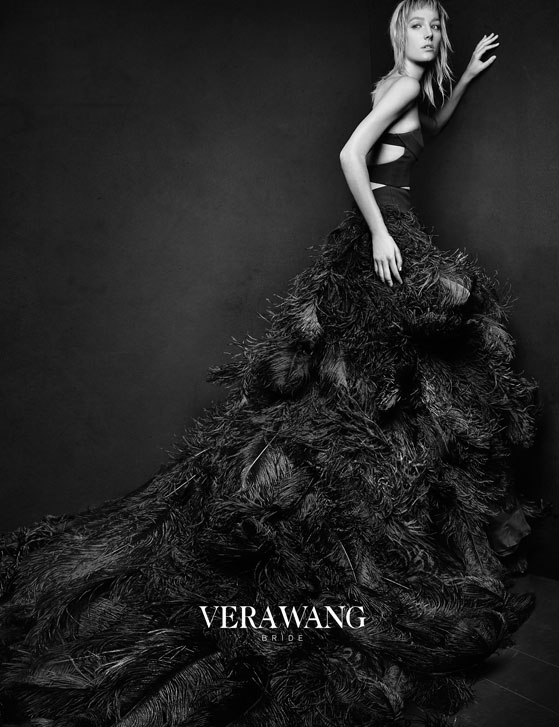 The Bride Wore Black: Vera Wang's Spring 2016 Bridal Campaign Bucks Tradition
