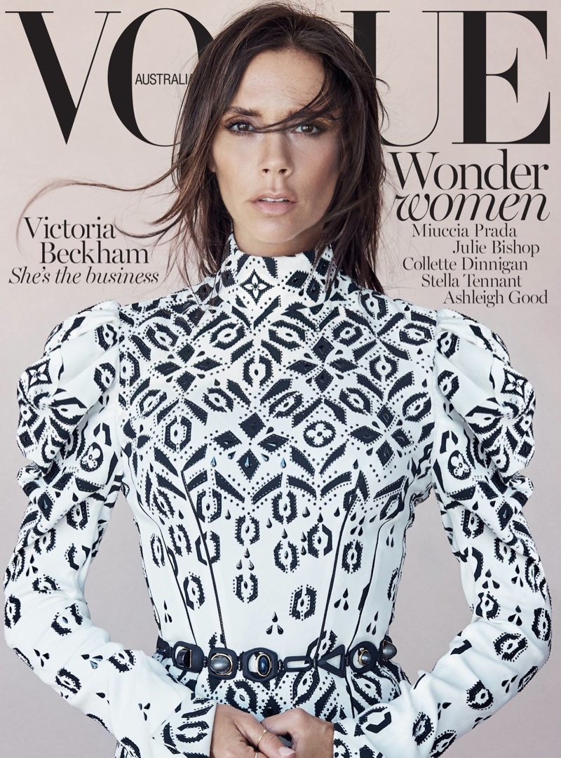 Victoria Beckham on the August 2015 cover of Vogue Australia