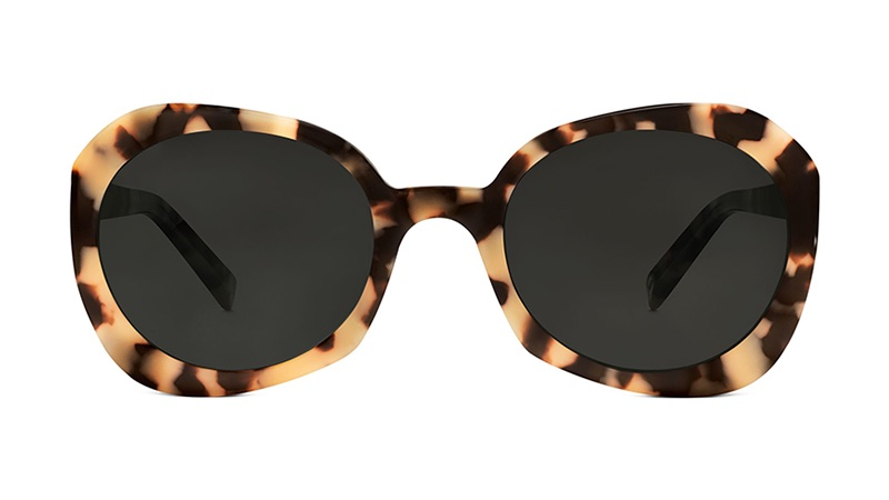 Warby Parker Margot Sunglasses in Marzipan Tortoise with Classic Grey Lenses $95
