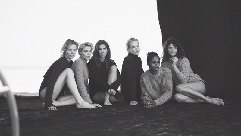 Supermodels pose for Peter Lindbergh. Photo: Nowness