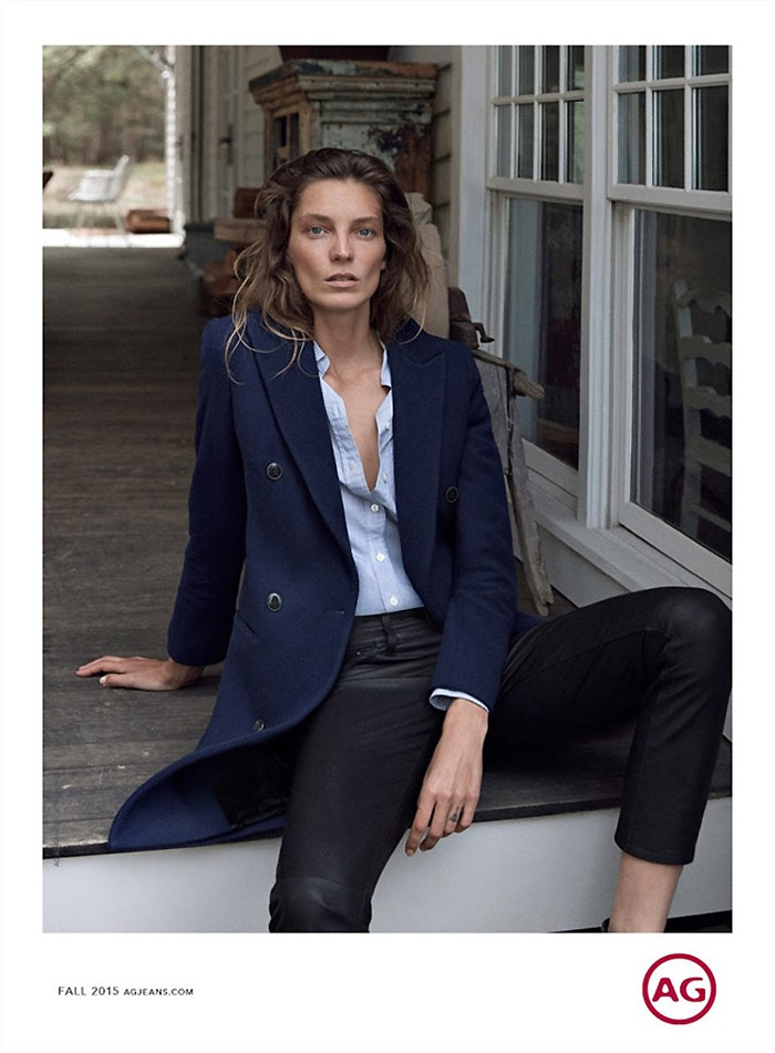 Daria Werbowy Fronts AG Jeans Fall 2015 Campaign