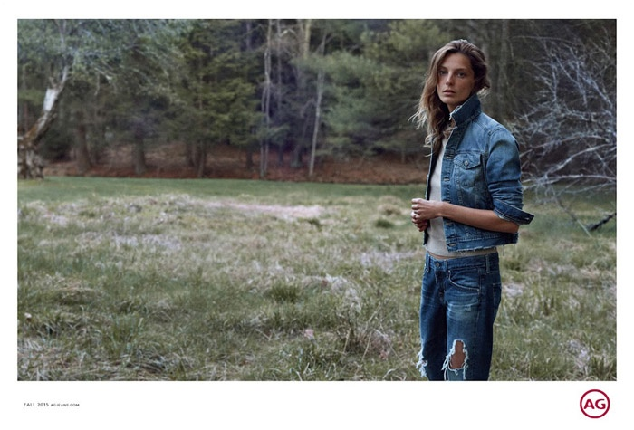 Daria Werbowy stars in AG Jeans' fall 2015 campaign