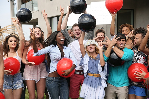 Models celebrate getting into the top 22 of America's Next Top Model
