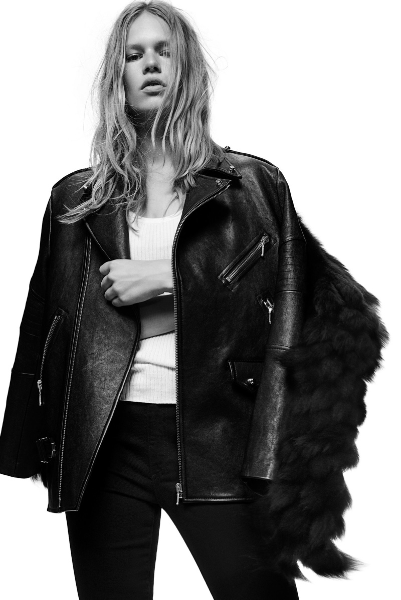 Alexander Wang leather jacket from fall 2009 collection.