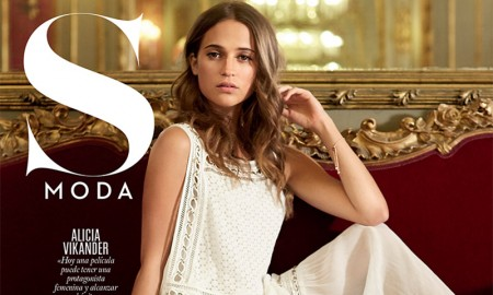 Alicia Vikander on S Moda August 9, 2015 cover
