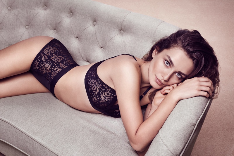 Andreea Diaconu Strips Down for Lindex Fall '15 Lingerie Ads