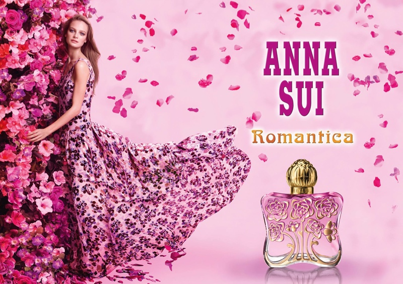 Ine Neefs is a Flower Girl in Anna Sui 'Romantica' Fragrance Ad