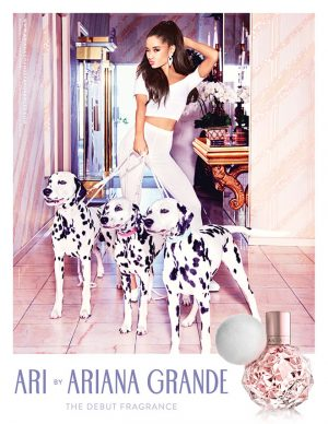 Ariana Grande Co-Stars with Dalmatians in 'Ari' Debut Fragrance Ad