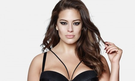 Ashley Graham Underwire Mesh Inset Chemise Plus Size