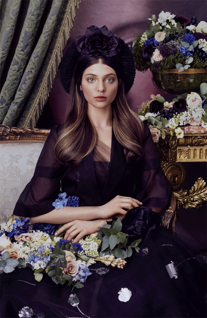 Sleek tresses are spotlighted in this image