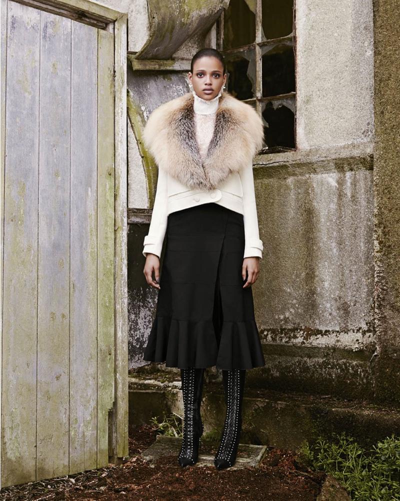 Aya Jones stars in Bergdorf Goodman's fall 2015 catalogue