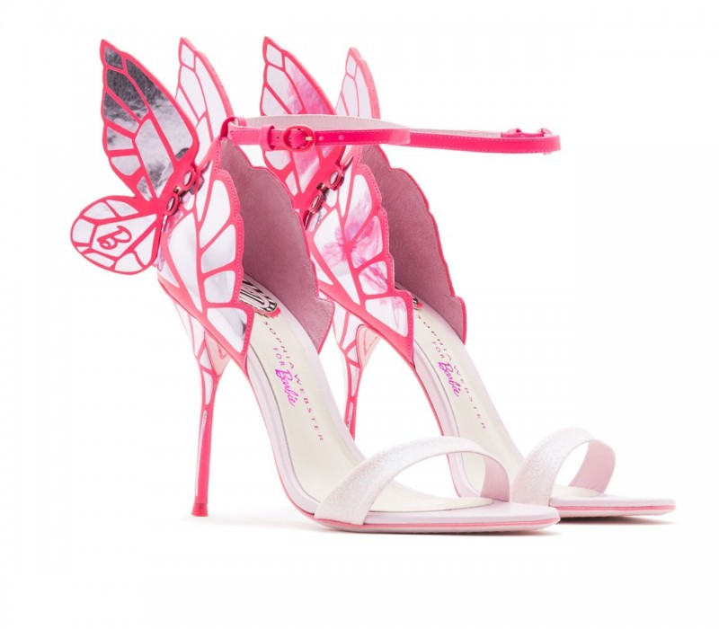 sophia webster pink butterfly heels