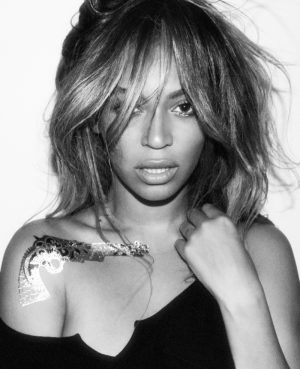 Beyonce Poses for Flash Tattoos Collaboration