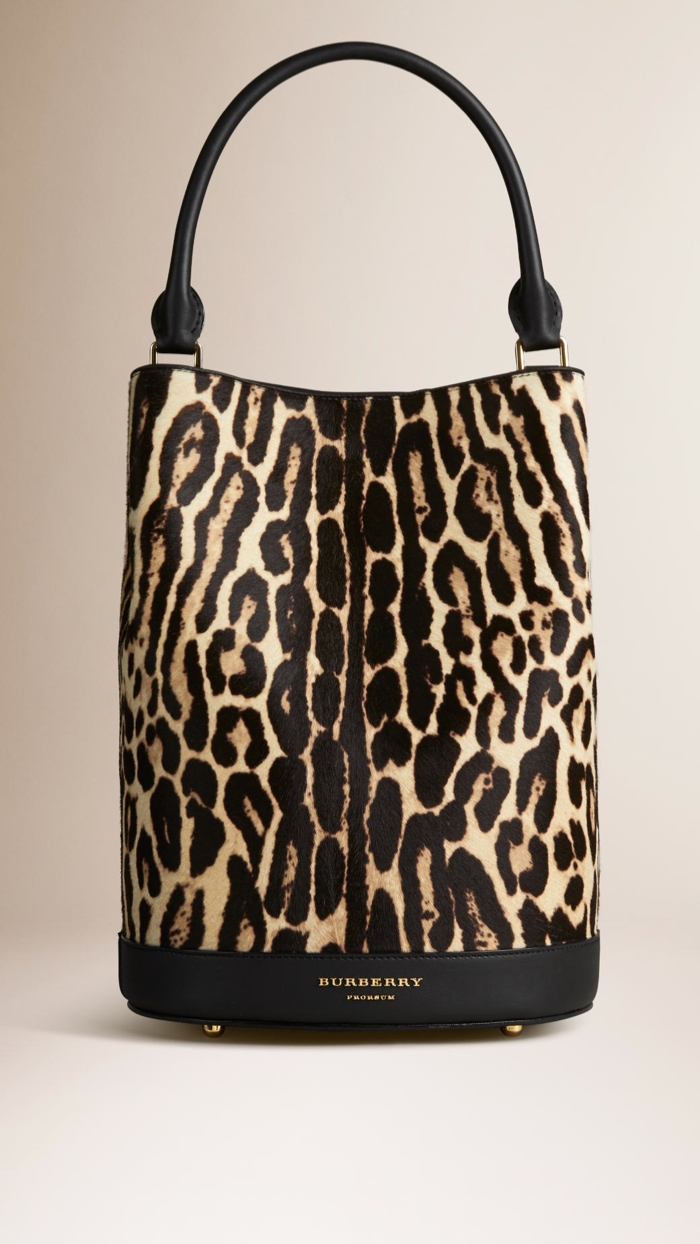 Burberry Bucket Bag in Animal Print available for $2,795.00