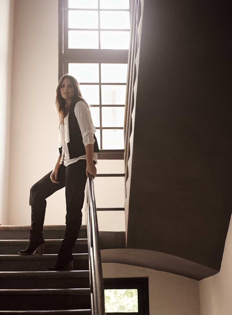 Candice Huffine stars in Violeta by Mango's fall 2015 catalogue