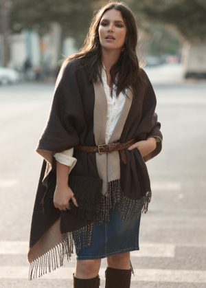 Candice Huffine Wears Chic Looks for Violeta by Mango Fall Catalogue
