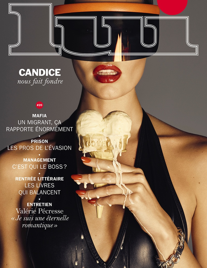 Candice Swanepoel on Lui September 2015 cover