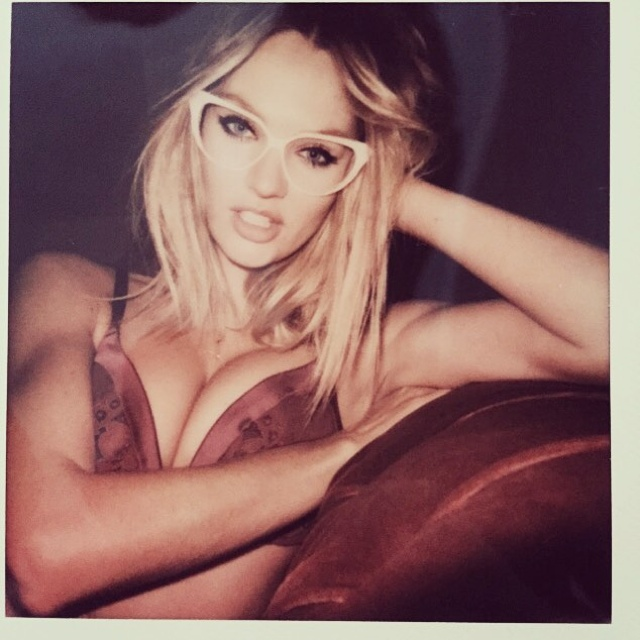 Candice Swanepoel Wears Glasses in Hot Victoria's Secret Polaroids