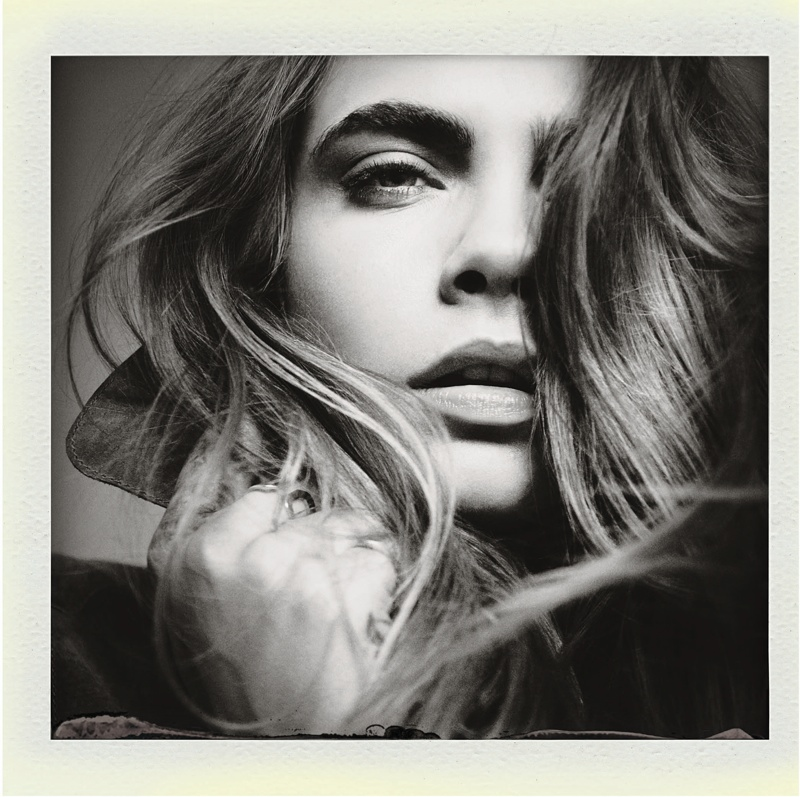 Cara Delevingne polaroid for Mango