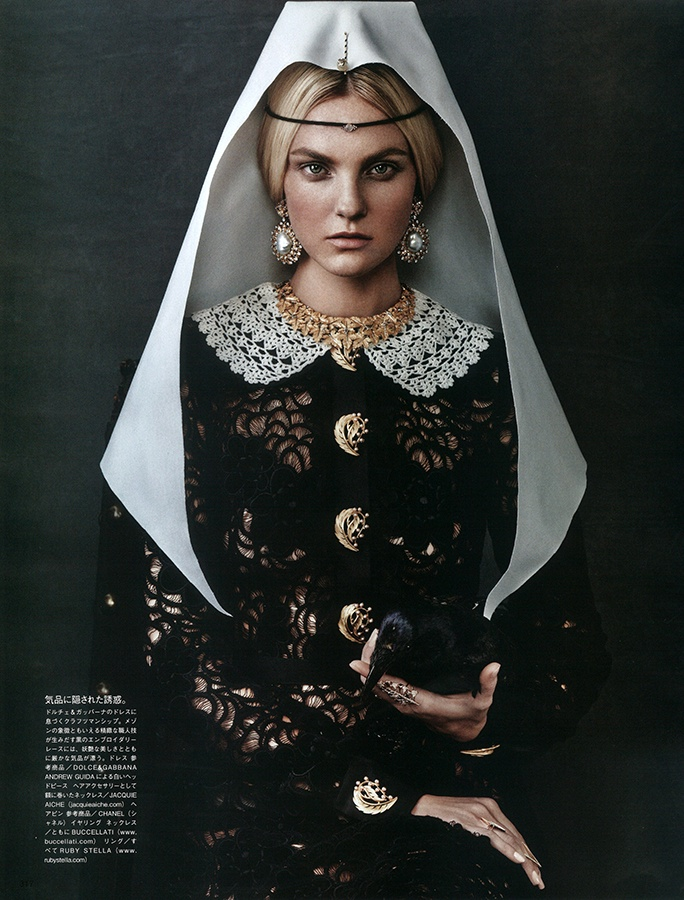 Caroline Trentini is Like a Painting in Vogue Japan Cover Story
